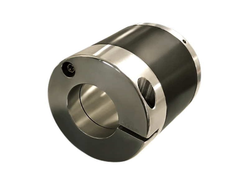 atem version of pneumatic sleeve to suit 150 and 152 mm cores, with a through-hole for a 76 mm shaft, with locking collar