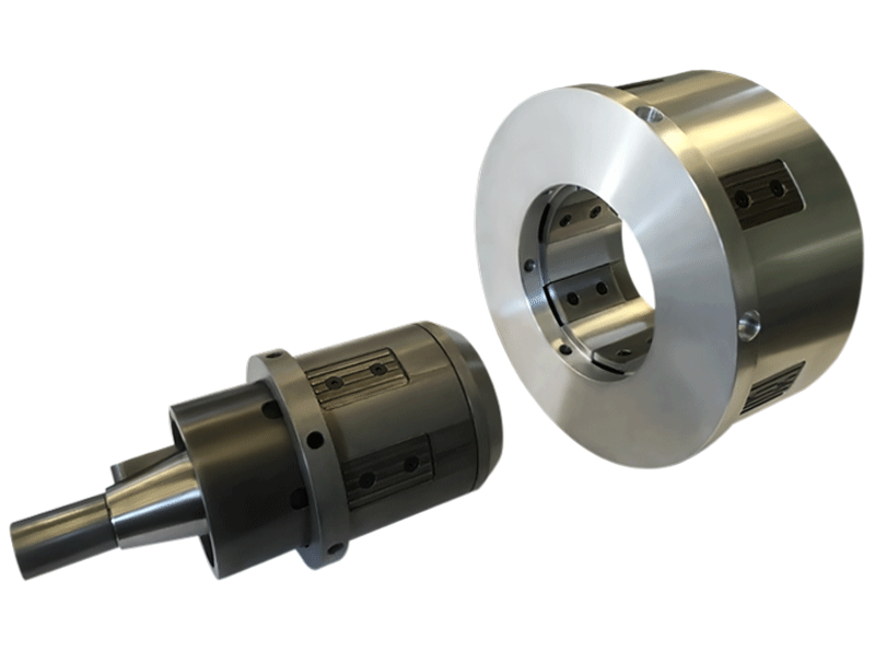 atem, core chucks, mechanically activated, heavy weight rolls, clamp cores
