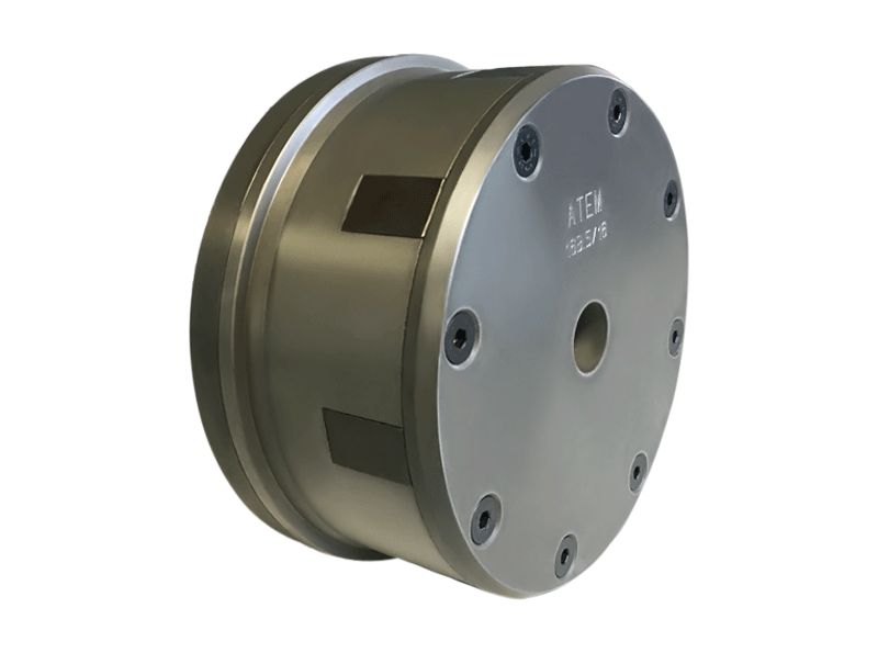 atem, compact core chucks, pneumatic, mechanical activated, heavy weight rolls, clamp cores